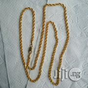 Tested ITALY 916 Complete 22karat Gold Necklace Twisted Design | Jewelry for sale in Lagos State, Lagos Island