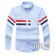 Thom Browne Classic 3 Body Stripe Oxford B.D Shirt - Sky Blue | Clothing for sale in Lagos State, Ikeja