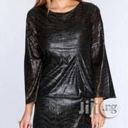 Black Snake Texture Long Sleeve Sexy Party Dress | Clothing for sale in Abuja (FCT) State, Central Business District