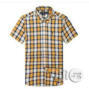 PRL Checkered Short Sleeve Shirt - Bold Gingham Multi Yellow | Clothing for sale in Lagos State, Ikeja