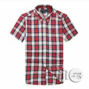 PRL Checkered Short Sleeve Shirt - Bold Gingham Multi Red | Clothing for sale in Lagos State, Ikeja