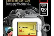 Sandisk Extreme Compact Flash 16gb Camera Memory Card | Accessories & Supplies for Electronics for sale in Lagos State, Ikeja