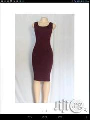 Women's Sleeveless Bodycon Dress.(Wine)   Clothing for sale in Lagos State, Lagos Mainland