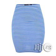 Fashion The Rolie Mini Skirt - Blue/White | Clothing for sale in Abuja (FCT) State