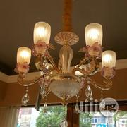 Six In One Celemic Chanderlier Light Gold Italian Made | Home Appliances for sale in Lagos State, Lekki Phase 2