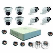 8 Channels HD DVR + 4 Outdoor + 4 Indoor 3.6mm HD CCTV Camera + 8 Cabl | Security & Surveillance for sale in Lagos State, Ikeja