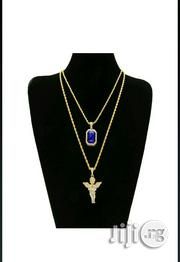 Blue Stone and Baby Angel Pendant   Jewelry for sale in Lagos State, Ikoyi