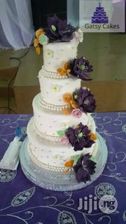 4-Steps White Wedding Cake By Gatsy Cakes | Wedding Venues & Services for sale in Rivers State, Port-Harcourt