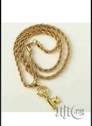 Gold Plated Key Pendant Necklace   Jewelry for sale in Lagos State, Lagos Island