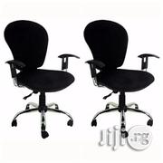 Emel Peach Secretary Swivel Metal Base Office Chair - Set of 2 Chairs | Furniture for sale in Lagos State, Alimosho