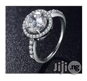 AAA Zircon Micro Paved Silver Engagement Rings 04 in a Box | Wedding Wear for sale in Lagos State, Lagos Mainland