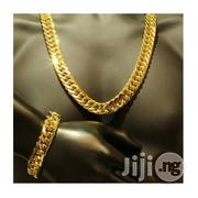 6MM 60CM Men's Gold Color Copper Chunky Chain Necklace & Hand Chain | Jewelry for sale in Lagos State