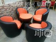 Four Seaters Sofa Chairs Red And Black Color Disgn   Furniture for sale in Lagos State, Ikeja