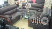 Quality Italian Leather Living Room Sofa Chair Seven Seaters | Furniture for sale in Lagos State, Lekki Phase 1