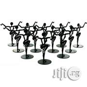 12 Black Metal Earring Dancer Jewelry Showcase Display Stands 3.25"