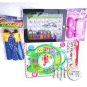 Kid's Educational Learning Tab - Black + Skipping Rope + My Funny Cloc | Toys for sale in Lagos State, Surulere