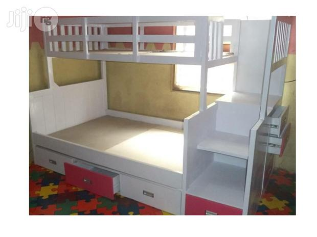 Colourful Trio Wooden Bunk Bed