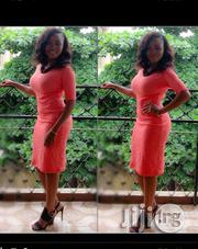 Coral/Peach Bodycon Dress   Clothing for sale in Lagos State, Lagos Mainland