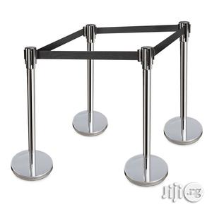 Retractable Belt Stanchions Stainless Steel 36 Inch Height Crowd Contr