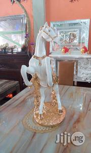 White And Gold Big Horse Statue For Decoration | Home Accessories for sale in Lagos State, Lekki Phase 2