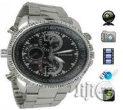 Silver Chain Spy Camera Watch With 4GB | Watches for sale in Lagos State, Ikeja