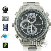 Silver Chain Spy Camera Watch, Inbult DVR, 4GB, Support 32GB Microsd M | Watches for sale in Lagos State, Ikeja