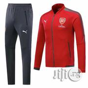 Arsenal Home Front Zipper Tracksuit - Red | Clothing for sale in Lagos State, Surulere