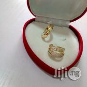 AAA Zircon Micro Paved Gold Engagement Rings 07 in a Box | Wedding Wear for sale in Lagos State, Lagos Mainland