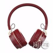 QLT Bluetooth Headphone With FM Radio And SD Card Slot B3- Brown | Headphones for sale in Lagos State, Ikeja