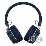 QLT Bluetooth Headphone With FM Radio and SD Card Slot B3-Blue | Headphones for sale in Lagos State, Ikeja