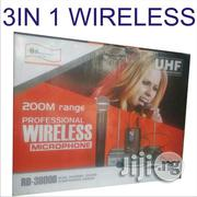 Quality Professional Wireless Microphone System 3 In 1 | Audio & Music Equipment for sale in Lagos State, Mushin