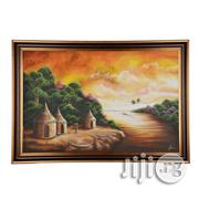A Big Artwork Frame of Village Scene in West Africa - Handmade (40x25) | Arts & Crafts for sale in Lagos State, Lagos Mainland