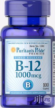 Vitamin B-12 (Timed Release) 1000mcg for Tiredness and Nerve Health | Vitamins & Supplements for sale in Lagos State, Lekki Phase 2