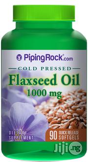 Flaxseed Oil Cold Pressed 1000 Mg 90 Quick Release Softgels | Vitamins & Supplements for sale in Lagos State, Lagos Mainland