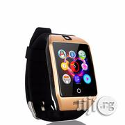 Smart Phone Watch Has A SIM Card Slot And Camera Black Gold Silver | Smart Watches & Trackers for sale in Lagos State