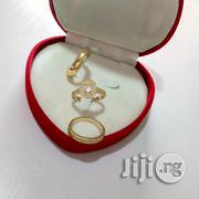 AAA Zircon Micro Paved Gold Wedding Engagement Ring 08 in a Box | Wedding Wear for sale in Lagos State, Lagos Mainland