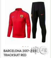 Brand New Barcelona 2017/2018 Tracksuit Red | Clothing for sale in Lagos State, Surulere