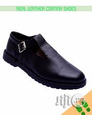 Improved Black Real Leather Cortina Shoe for Kids | Children's Shoes for sale in Lagos State, Lagos Mainland