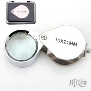 New Foldable 10X 21mm Glass Magnifying Lens