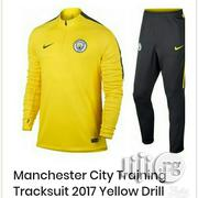 Brand New Manchester City Training Technical Tracksuit Yellow Drill | Clothing for sale in Lagos State, Surulere