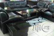 Black Leather Sofa as 990   Furniture for sale in Lagos State, Ojo