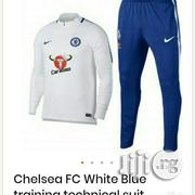 Brand New Chelsea FC White/Blue Training Technical Tracksuit | Clothing for sale in Lagos State, Surulere