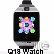 Q18 Smart Watch Phone With SIM Card and Bluetooth Connectivity Camera | Smart Watches & Trackers for sale in Rivers State, Port-Harcourt
