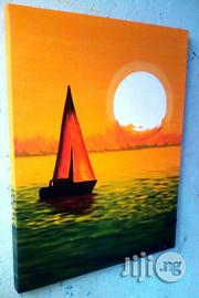 Boat River Sunset Painting | Arts & Crafts for sale in Abuja (FCT) State, Central Business District
