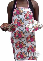 3 Set Of Kitchen Queen Apron, Pot Holder, Mitten And Kitchen Towel | Kitchen & Dining for sale in Lagos State, Ikeja