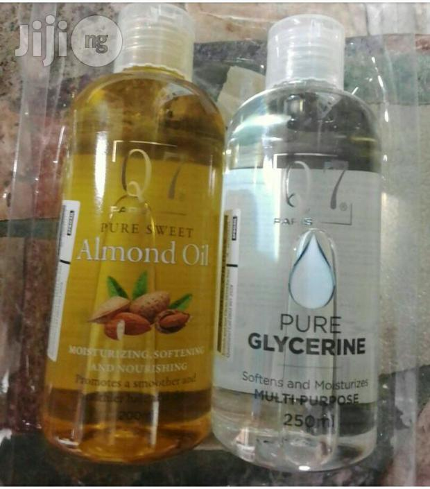 Q7 Paris Pure Almond And Pure Glycerin Oil