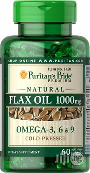 Cold Pressed Flaxseed Oil Capsules Omega-3, 6 and 9 | Vitamins & Supplements for sale in Lagos State, Lekki Phase 1