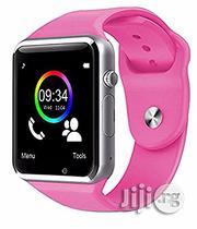 Pink Smart Watch With Camera, Internet Browser, SIM Card Slot | Smart Watches & Trackers for sale in Rivers State, Port-Harcourt