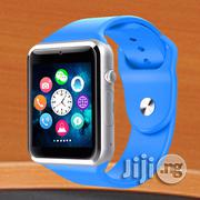 Blue Smart Watch With Camera and SIM Card Slot A1 Smartwatch | Smart Watches & Trackers for sale in Rivers State, Port-Harcourt