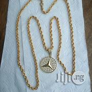 Pure ITAL 750 Tested 18krt Gold Twisted Wit Benz Pendant | Jewelry for sale in Lagos State, Lagos Island